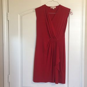 Red mid-length dress